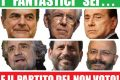 Tra i sei candidati, vincerà l'astensionismo?