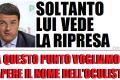 Soltanto Renzi vede la ripresa. E' tutto da rifare!