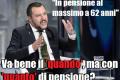 Salvini: in pensione a 62 anni con quota 100.
