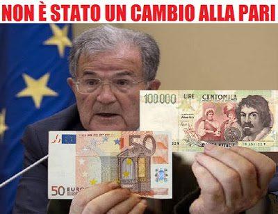 L'€uro ha arricchito la Germania e impoverito l'Italia.