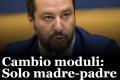 """Salvini: """"No a genitore 1 e 2, si torna a madre e padre""""."""