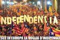 Catalogna: ha votato il 42%, il 90% è per l'indipendenza.