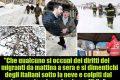 """Terremoto e Neve. Salvini: """"Italiani al gelo, migranti in hotel""""!"""