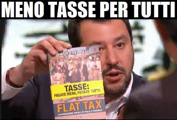 Salvini: Flat tax anche per i lavoratori dipendenti.