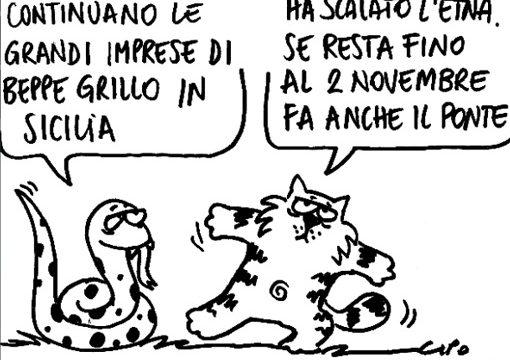 """Grillo in Sicilia: """"Cambieremo insieme, questo è l'ultimo treno""""!"""