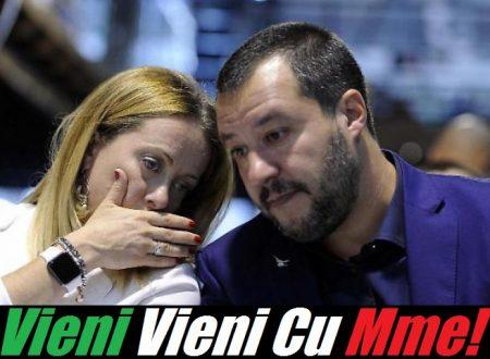 """La Meloni chiama Salvini: """"Un governo FdI-Lega dopo voto Europee""""."""