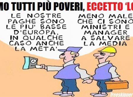 L'Italia non cresce: reddito delle famiglie giù,potere d'acquisto -0,5%.
