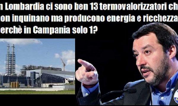 Al di là di simpatie o antipatie, io da napoletano e da chimico approvo la linea di Salvini sui termovalorizzatori. di Antonello Laiso