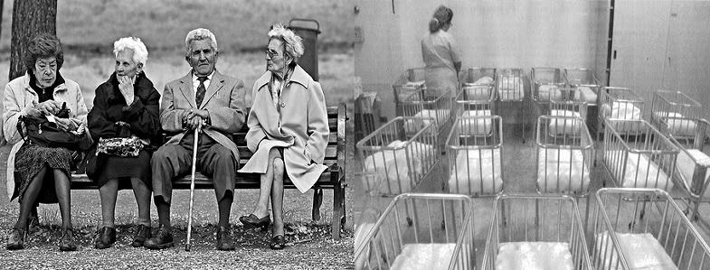 Machi se ne frega se la società invecchiae gli asili sono meno affollati di ieri. Dov'è il dramma?