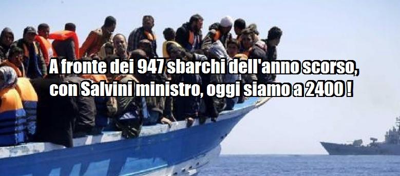 """Salvini attacca il Viminale: """"Sbarchi-record, ma il ministro e i telegiornali tacciono""""."""