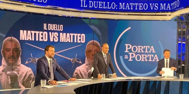 Duello tv Renzi-Salvini. Chi ha vinto e chi ha perso? Hanno perso gli italiani e non solo un'ora di sonno, ma la speranza del cambiamento.
