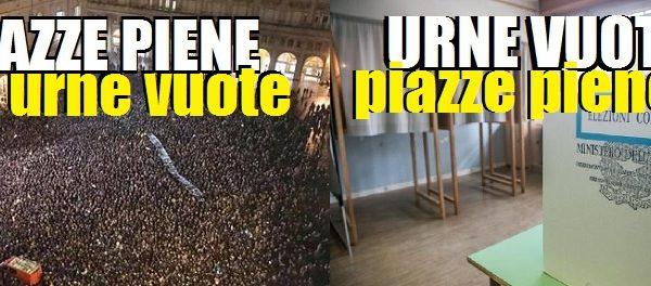 """Se dopo la protesta non arriva la proposta sarà di nuovo """"piazze piene, urne vuote"""". di Antonio Ferrante"""