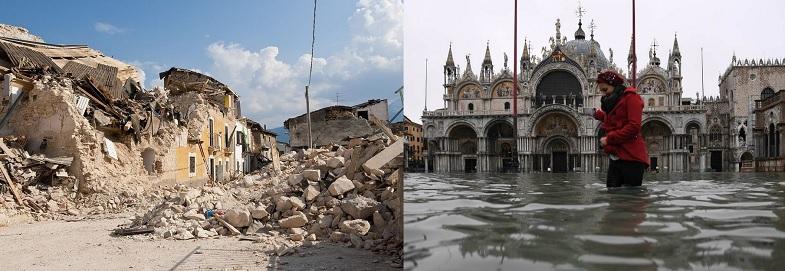 Terremoti e alluvioni. I cambiamenti climatici fanno la loro parte, ma molto si può evitare con la prevenzione.