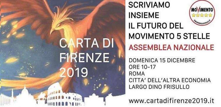 Carta di Firenze 2019. Roma – Assemblea Nazionale del 15 Dicembre.