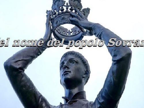 La vita del governo deve dipendere dal popolo e non dai partiti. di Michele Ricciardi