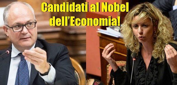 Gualtieri e la Lezzi candidati al Nobel dell'Economia… di Daniele Capezzone