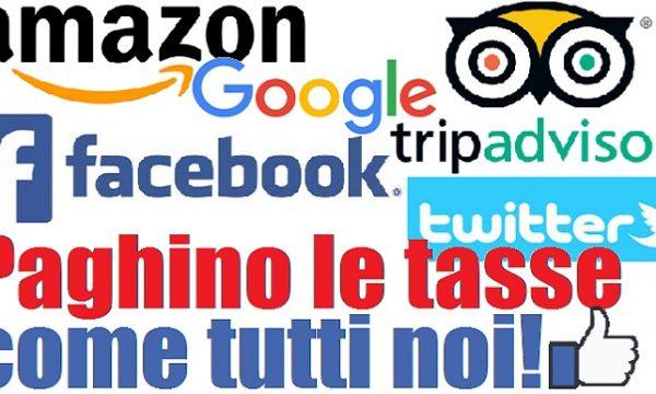 In Italia i grandi colossi stranieri non pagano le tasse per quanto incassano.