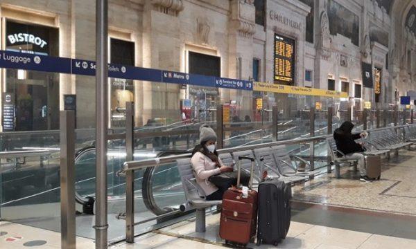 Il silenzio è irreale… Milano città fantasma. Stazione deserta.