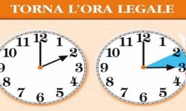 Questo fine settimana torna l'ora legale: lancette avanti di un'ora!