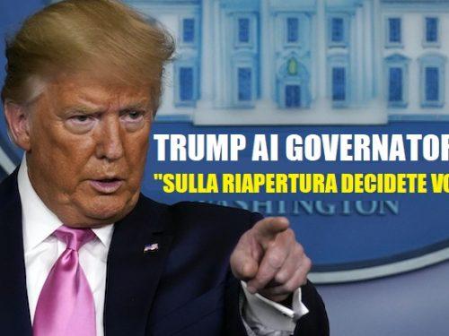 """Trump come Ponzio Pilato, ai Governatori: """"Sulla riapertura decidete voi""""! di Ferdinando Chinè"""