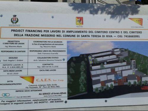Santa Teresa di Riva, quando inizieranno i lavori di ampliamento del cimitero? di Salvatore Trimarchi