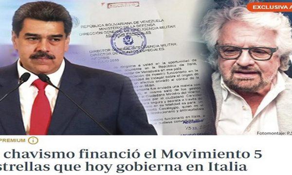 """ABC: """"Il Venezuela di Chavez finanziò il M5S con 3 milioni e mezzo di euro""""!"""