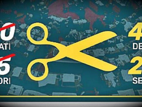 Referendum. Alla fine sarà tagliato il parlamento. 0 (0)