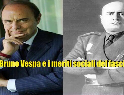"""Le incredibili esternazioni di Bruno Vespa sui """"meriti sociali"""" del fascismo."""