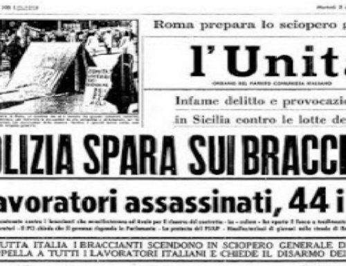 Ricorrenza a 52 anni dei tragici fatti : Avola 2 dicembre 1968, uccisi Angelo Sigona e Giuseppe Scibilia.