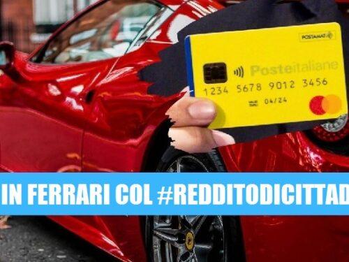 Girava in Ferrari col Reddito di Cittadinanza.
