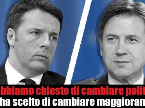 Renzi vs Conte: Gli abbiamo chiesto di cambiare politica, lui ha scelto di cambiare maggioranza!