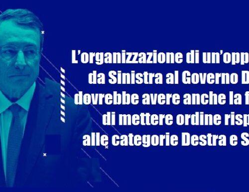 La necessità di un'opposizione di Sinistra al Governo Draghi per ridefinire 'la Destra' e 'la Sinistra'.