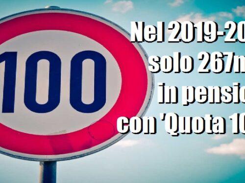 Tanto rumore per nulla: soltanto 267mila pensionati con Quota100!