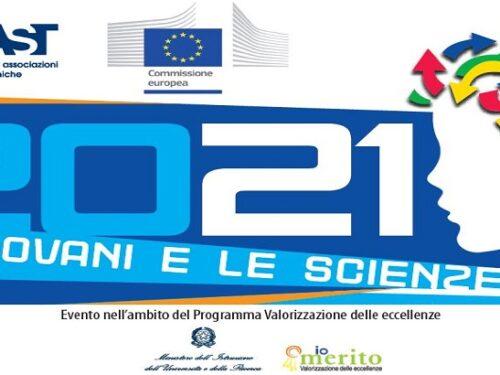 """Concorso europeo """"I giovani e le scienze 2021""""."""