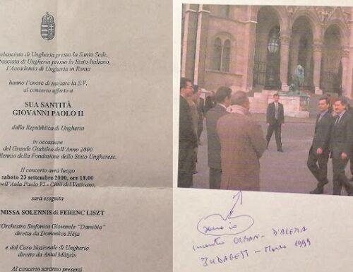In delegazione dal Papa con l'ex compagno Orban.