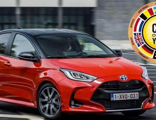 La Toyota Yaris è l'auto dell'Anno 2021.