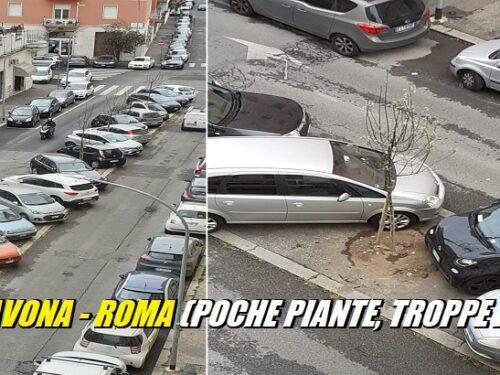 Roma, Via Savona: ancora poche piante e tante auto!