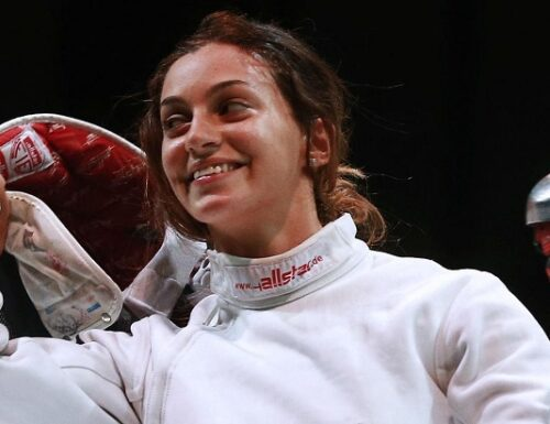 """Rossella Fiamingo, campionessa italiana di spada: """"La scherma è al primo posto nella mia vita""""."""