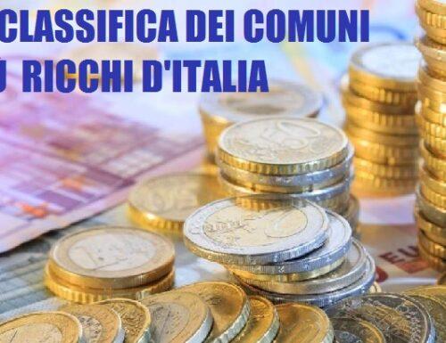 La classifica dei Comuni più ricchi d'Italia.