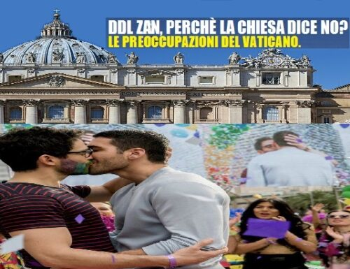 Ddl Zan, la nota dello Stato del Vaticano.