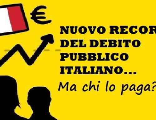 Ormai il debito pubblico italiano non lo ferma più nessuno: è nuovo record!