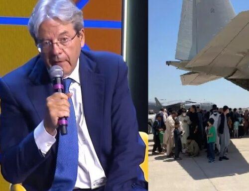 Gentiloni evoca una decisione europea per l'accoglienza degli afghani.
