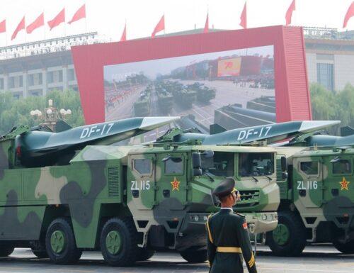 La Cina si è dotata di missili supersonici.