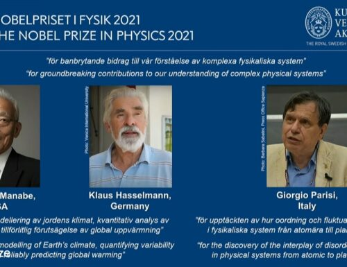 Premio Nobel per la fisica all'italiano Giorgio Parisi.